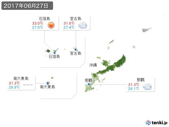 沖縄地方(2017年06月27日の天気