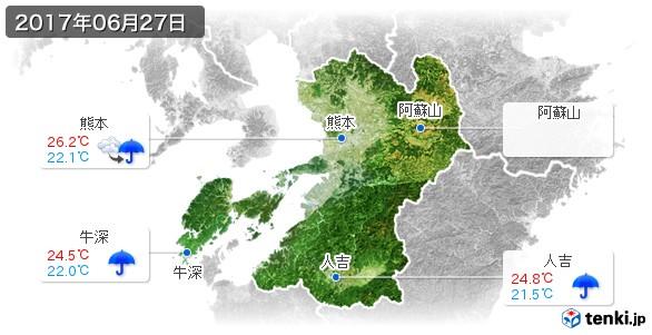 熊本県(2017年06月27日の天気