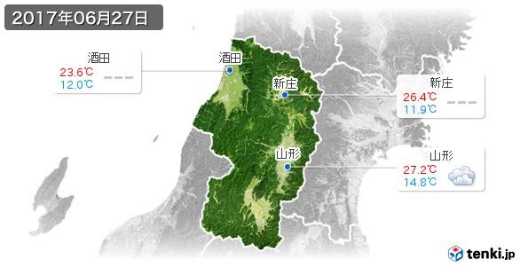 山形県(2017年06月27日の天気