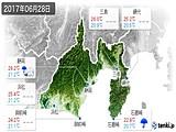 2017年06月28日の静岡県の実況天気