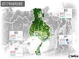 2017年06月28日の兵庫県の実況天気