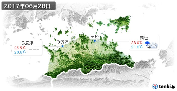 香川県(2017年06月28日の天気