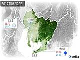 2017年06月29日の愛知県の実況天気