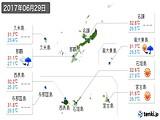 2017年06月29日の沖縄県の実況天気