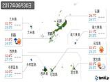 2017年06月30日の沖縄県の実況天気