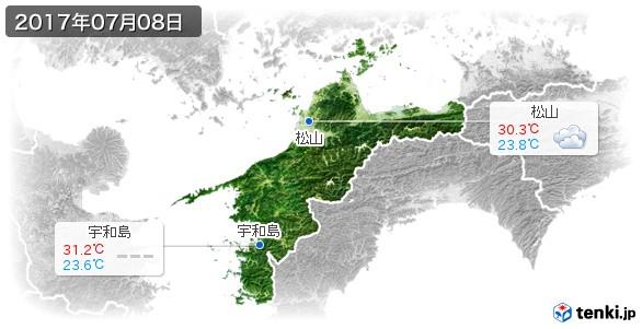 愛媛県(2017年07月08日の天気