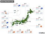2017年07月11日の実況天気