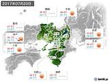 2017年07月20日の近畿地方の実況天気