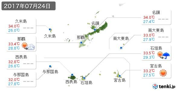 沖縄県(2017年07月24日の天気