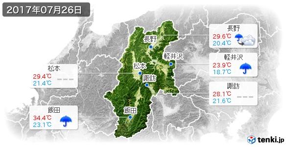 長野県(2017年07月26日の天気