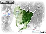 2017年07月30日の愛知県の実況天気