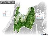 2017年08月01日の富山県の実況天気