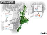 2017年08月01日の三重県の実況天気