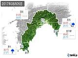 2017年08月05日の高知県の実況天気