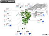 2017年08月06日の九州地方の実況天気