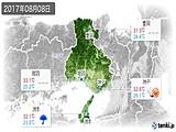 2017年08月08日の兵庫県の実況天気