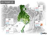 2017年08月12日の兵庫県の実況天気