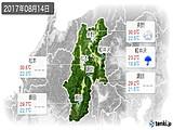 2017年08月14日の長野県の実況天気