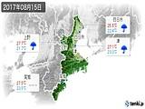 2017年08月15日の三重県の実況天気
