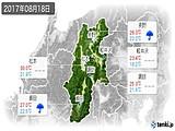 2017年08月18日の長野県の実況天気