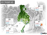 2017年08月18日の兵庫県の実況天気