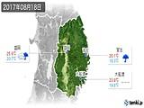 2017年08月18日の岩手県の実況天気