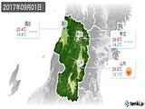 2017年09月01日の山形県の実況天気