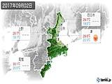 2017年09月02日の三重県の実況天気