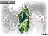 2017年09月02日の滋賀県の実況天気