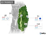 2017年09月02日の岩手県の実況天気