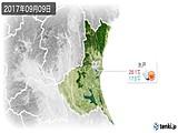 2017年09月09日の茨城県の実況天気