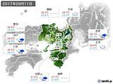 2017年09月11日の近畿地方の実況天気
