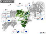 2017年09月17日の近畿地方の実況天気