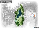 2017年10月03日の滋賀県の実況天気