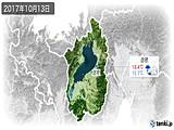 2017年10月13日の滋賀県の実況天気