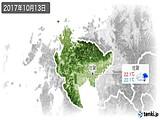 2017年10月13日の佐賀県の実況天気