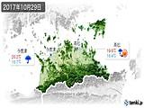 2017年10月29日の香川県の実況天気