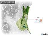 2017年11月02日の茨城県の実況天気