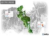 2017年11月03日の京都府の実況天気