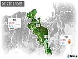 2017年11月06日の京都府の実況天気