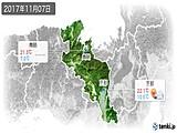 2017年11月07日の京都府の実況天気