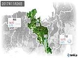 2017年11月26日の京都府の実況天気