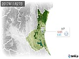 2017年11月27日の茨城県の実況天気