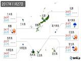 2017年11月27日の沖縄県の実況天気