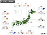 2017年11月28日の実況天気
