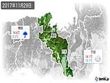 2017年11月29日の京都府の実況天気