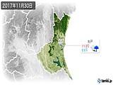 2017年11月30日の茨城県の実況天気