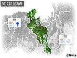 2017年11月30日の京都府の実況天気
