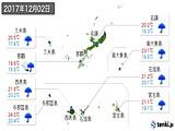 2017年12月02日の沖縄県の実況天気