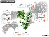 2017年12月03日の近畿地方の実況天気